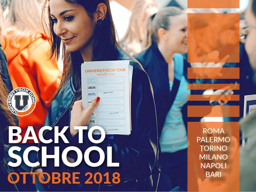 Universitybox tour ottobre 2018